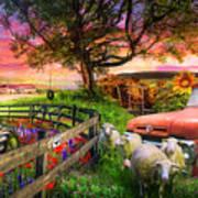 The Appalachian Farm Life In Beautiful Morning Light Poster
