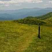 The Appalachian Trail Crossing Max Patch Poster