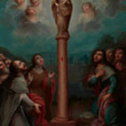 The Apparition Of The Virgin Of El Pilar To St. James Poster