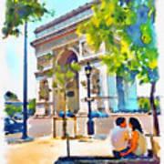 The Arc De Triomphe Paris Poster