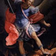 The Archangel Michael Defeating Satan Poster