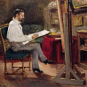 The Artist Morot In His Studio Poster
