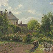 The Artist's Garden At Eragny Poster