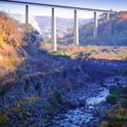 The Atenquique River Passes Under The Highway Bridge Poster