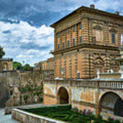 The Back Of The Pitti Palace In Florence Poster
