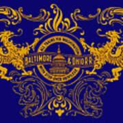 The Baltimore And Ohio Railroad Poster