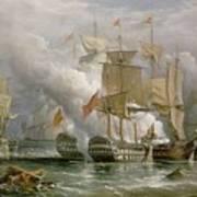 The Battle Of Cape St Vincent Poster by Richard Bridges Beechey