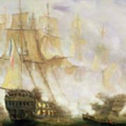 The Battle Of Trafalgar Poster by John Christian Schetky