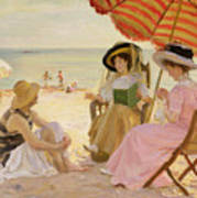 The Beach Poster by Alfred Victor Fournier