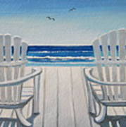 The Beach Chairs Poster