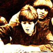 The Beatles Balcony Poster
