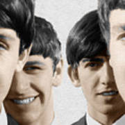 The Beatles Painting 1963 Color Poster