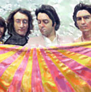The Beatles. Watercolor Poster