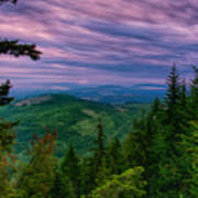 The Beautiful Olympic Mountains At Dawn - Olympic National Park, Washington Poster