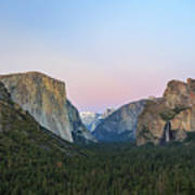 The Beautiful Tunnel View Of Yosemite Poster