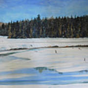 The Beaver Pond In Winter Poster