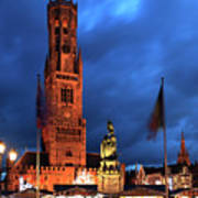 The Belfort Tower, Belfry, Bruges City, West Flanders Poster