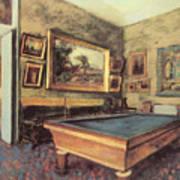 The Billiard Room At Menil-hubert Poster