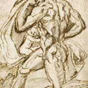 The Birth Of Bacchus From Jupiter's Thigh Poster