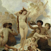 The Birth Of Venus Poster by William-Adolphe Bouguereau