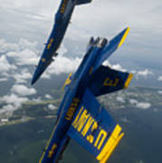 The Blue Angels Over Pensacola Beach Poster
