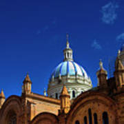 The Blue Domes Of Cuenca, Ecuador Poster
