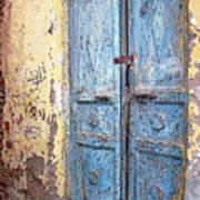 The Blue Doors Nubian Village Poster
