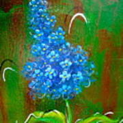 The Blue Flower Poster
