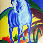 The Blue Horse Franc Marz Poster
