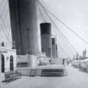 The Boat Deck Of The Titanic Poster