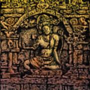 The Bodhisattva Samantabhadra Borobudur Java Poster
