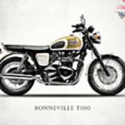 The Bonneville T100 Poster