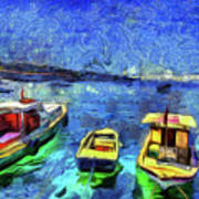 The Bosphorus Istanbul Art Poster