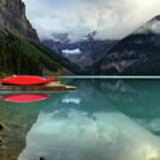 The Breathtakingly Beautiful Lake Louise Banff National Park Poster