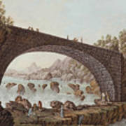 The Bridge At The Border Between France And Savoy Poster