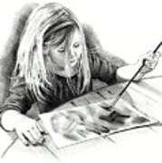 The Budding Artist Poster