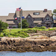 The Bush Compound Kennebunkport Maine Poster