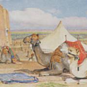The Caravan, An Arab Encampment At Edfou Poster