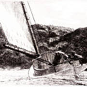 The Cat Boat, Edward Hopper Poster