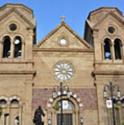 The Cathedral Basilica Of St. Francis Of Assisi, Santa Fe, New M Poster