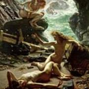 The Cave Of The Storm Nymphs Poster by Sir Edward John Poynter