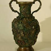 The Cedar Ridge - Wildflower Vase Prickly Pear Side Poster
