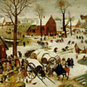 The Census At Bethlehem Poster by Pieter the Younger Brueghel