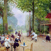 The Chalet Du Cycle In The Bois De Boulogne Poster by Jean Beraud