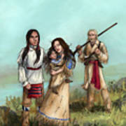 The Cherokee Years Poster by Brandy Woods