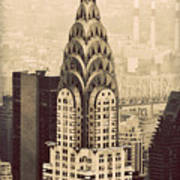 The Chrysler Building New York Poster