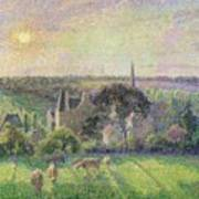 The Church And Farm Of Eragny Poster
