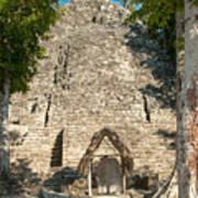 The Church At Grupo Coba At The Coba Ruins  Poster