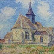 The Church At Porte-joie On The Eure By Gustave Loiseau Poster