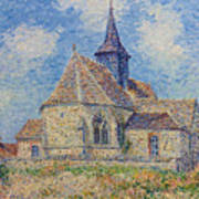 The Church At Porte-joie On The Eure Poster